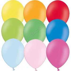 Гелиевый шарик с обработкой, пастель 30см